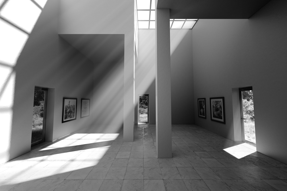 Lighting and rendering study created by Nicholas Balliett with Maya and V-Ray.