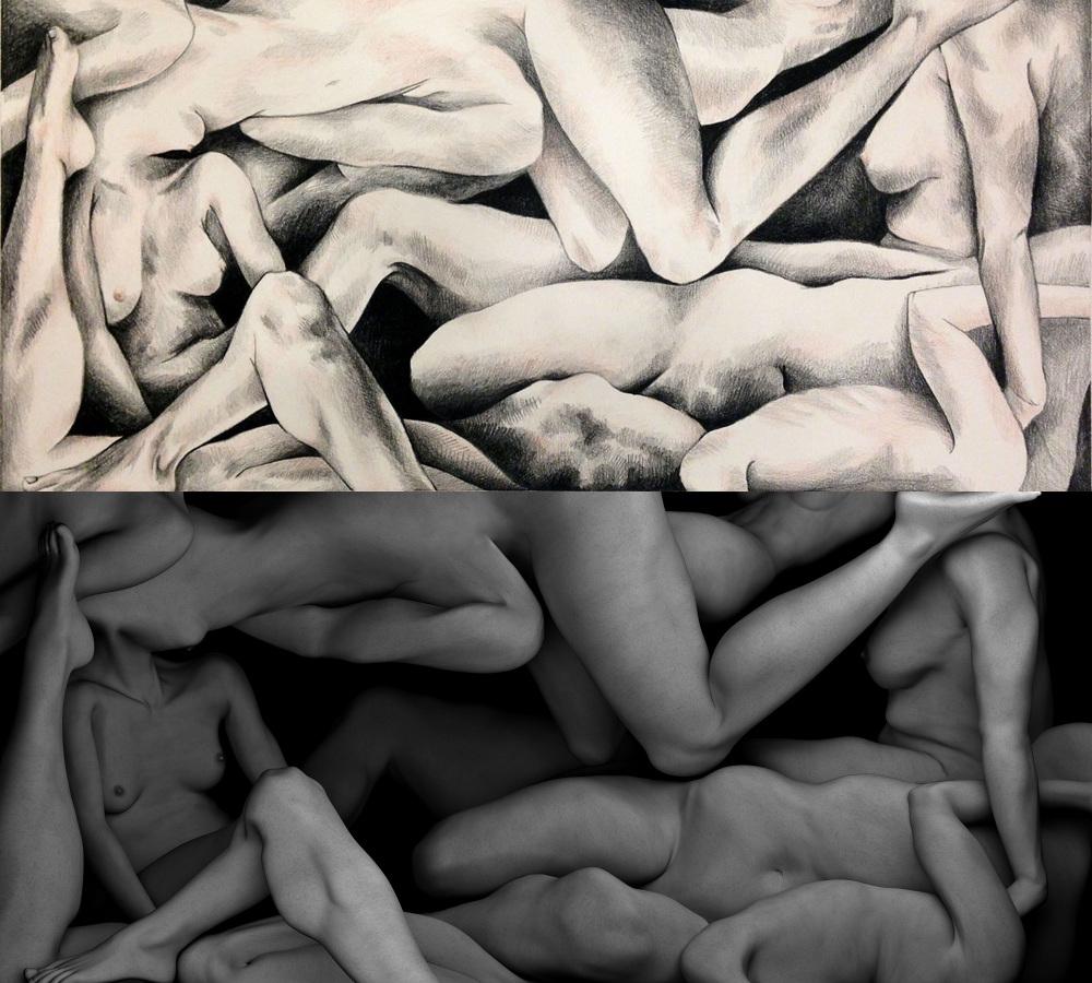 Illustration and 3D rendered art created by Nicholas Balliett.