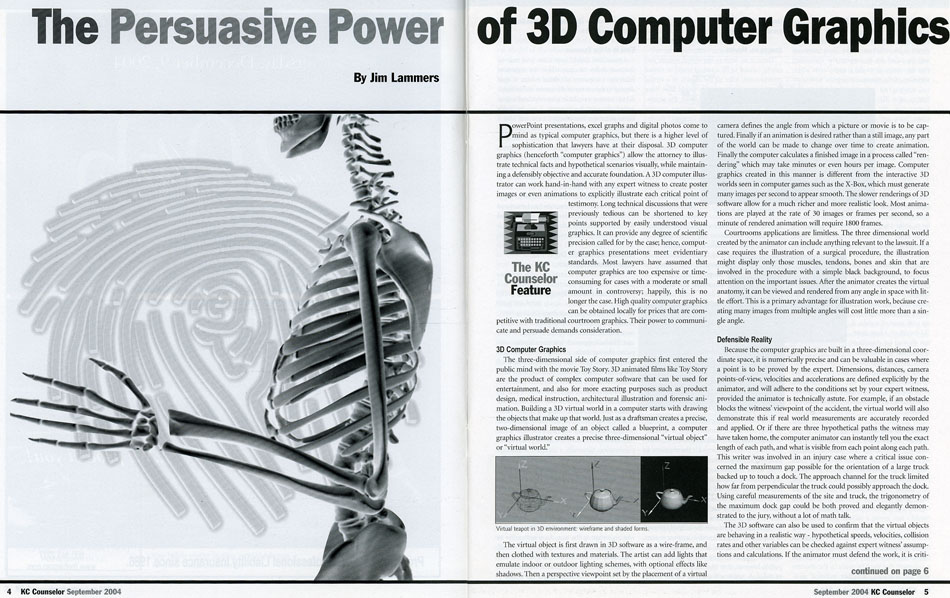 The Persuasive Power of 3D Computer Graphics article from KC Counselor