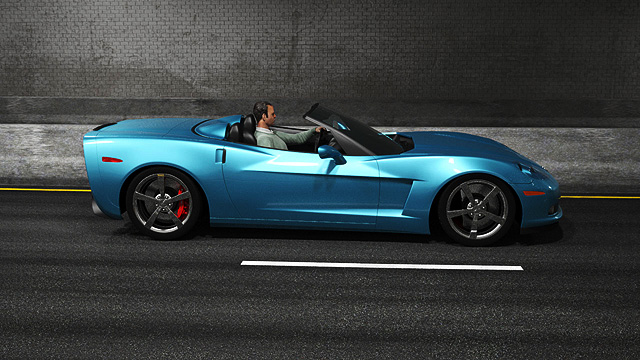 Car commercial C6 6th generation corvette before transition.