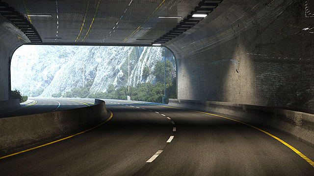 Car commercial - tunnel environment