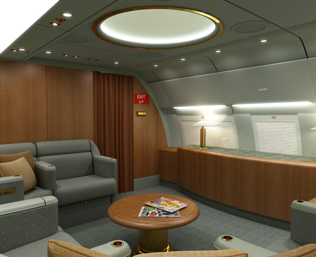 Aircraft Rendering of a meeting and VIP area