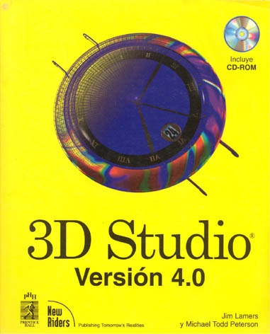Cover of Spanish translation of 3D Studio for Beginners, co-authored by Jim Lammers of Trinity Animation