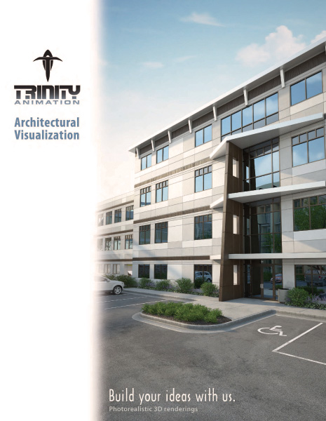 Cover art of Trinity Animation Architectural Visualization Brochure