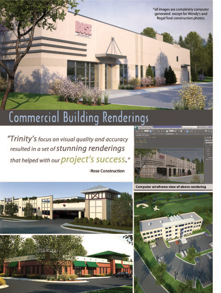 Page 2 of Trinity Animation Architectural Visualization Brochure
