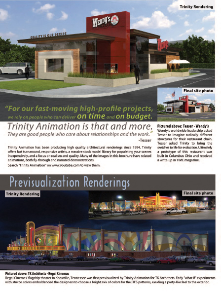 Page 3 of Trinity Animation Architectural Visualization Brochure