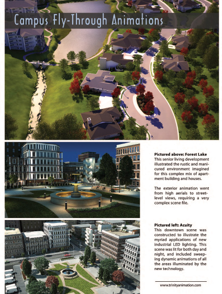 Page 4 of Trinity Animation Architectural Visualization Brochure