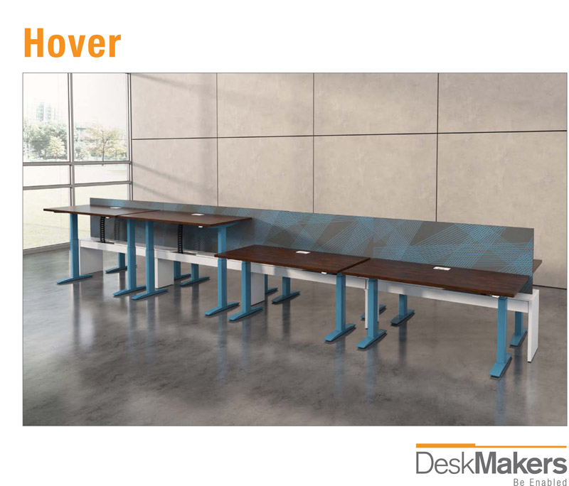 Brochure cover page for Hover, a contract furniture rendering created by Trinity Animation
