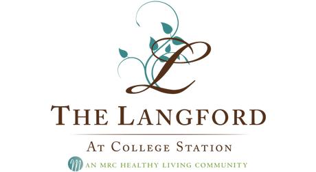 A logo for the Langford at College Station, the campus depicted in these 3D architectural renderings.
