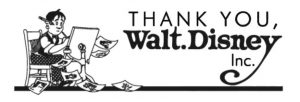 The logo for the Thank You Walt Disney group.