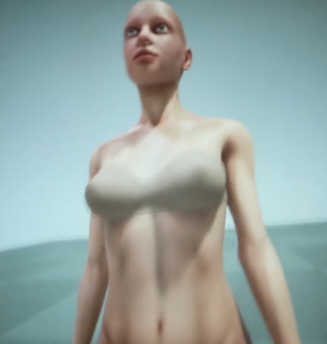 VR anatomy view of imported human character.