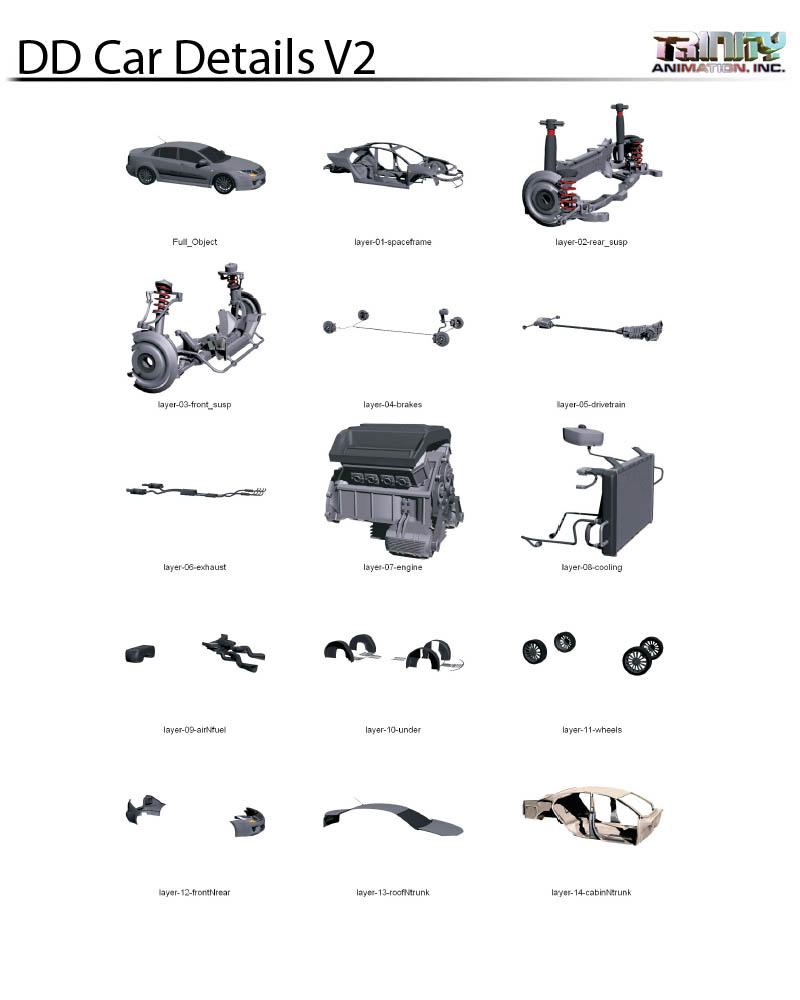 Trinity Stock Models Car Parts