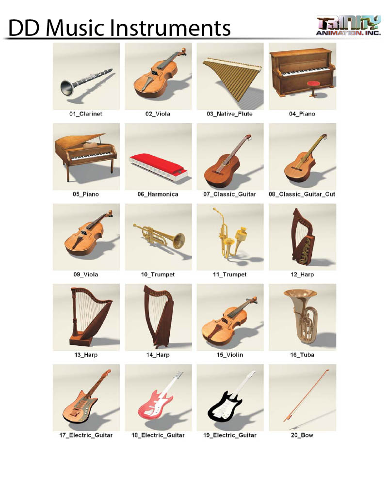 Trinity Stock Models Musical Instruments