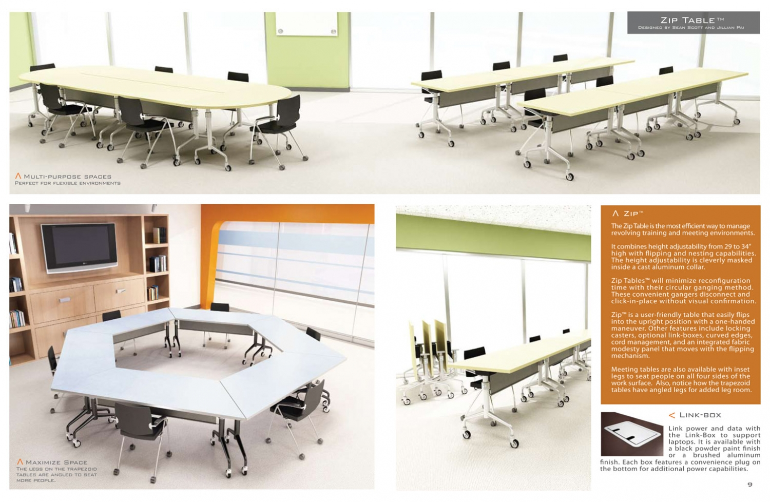 Surfacetech 3D Furniture Photography of Zip Table