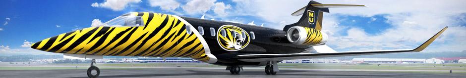 Jet exterior paint scheme rendering with full branding.