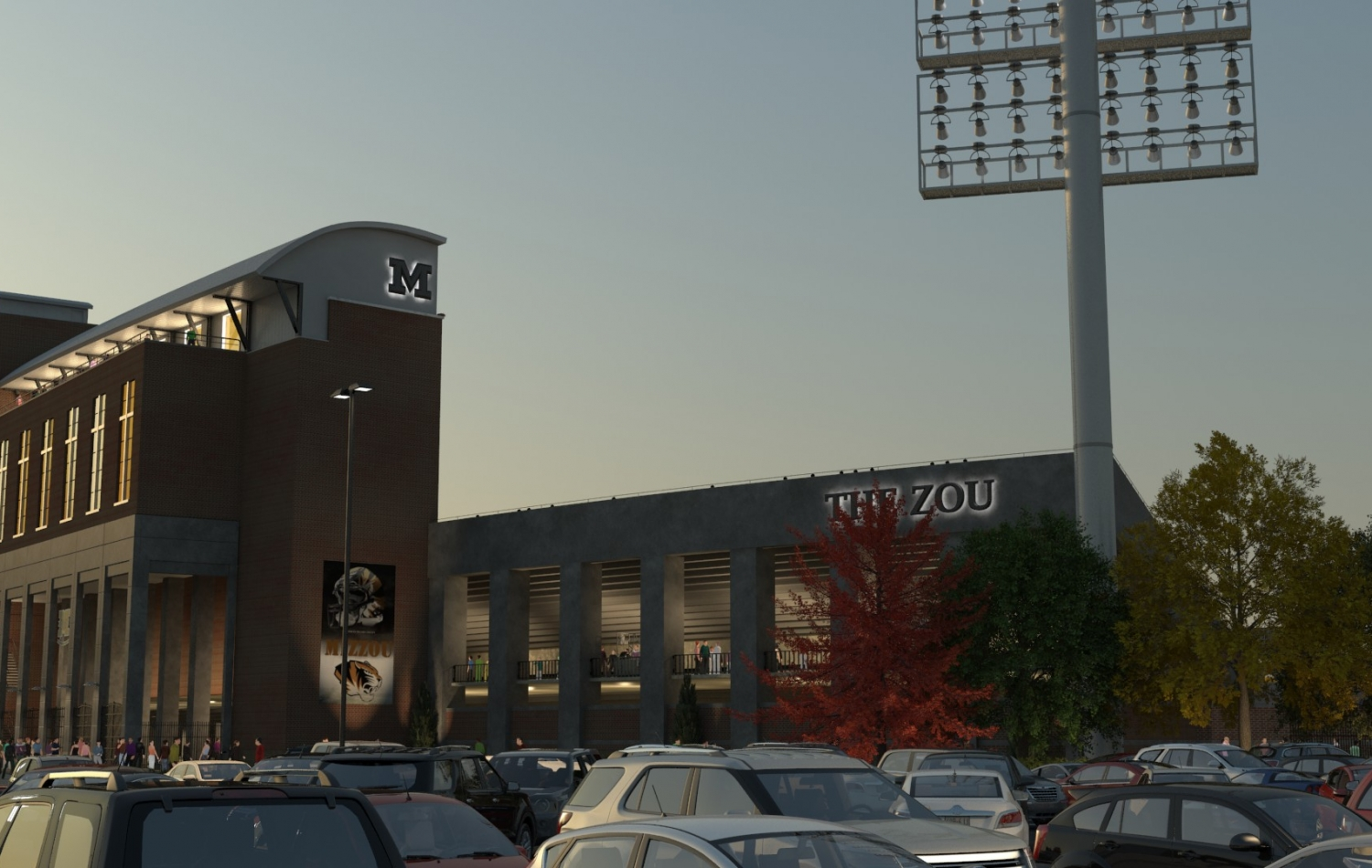 A human eye level sample of Trinity 3D stadium renderings for the Mizzou project.