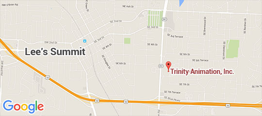 Map View of Trinity Animation