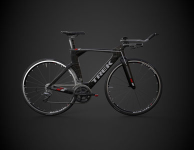 Side view of a fully rendered racing bicycle.