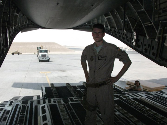 Trinity Animation animator Travys Keto at work at his prior job in the Air Force.