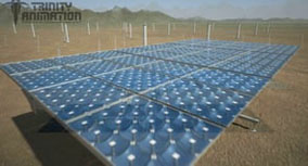 SolFocus solar array installation animation.